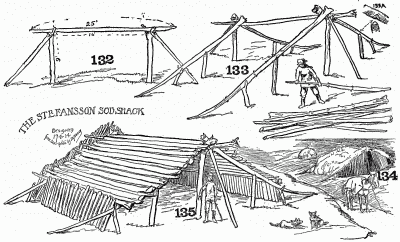 Details of the Stefansson sod shack.